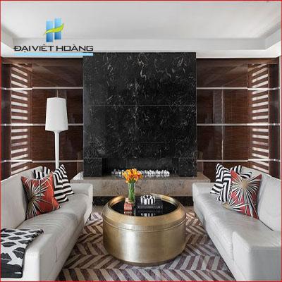 Phòng khách đẹp với đá marble