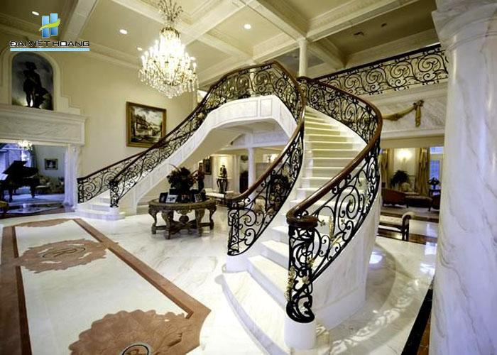 đá cầu thang đá marble