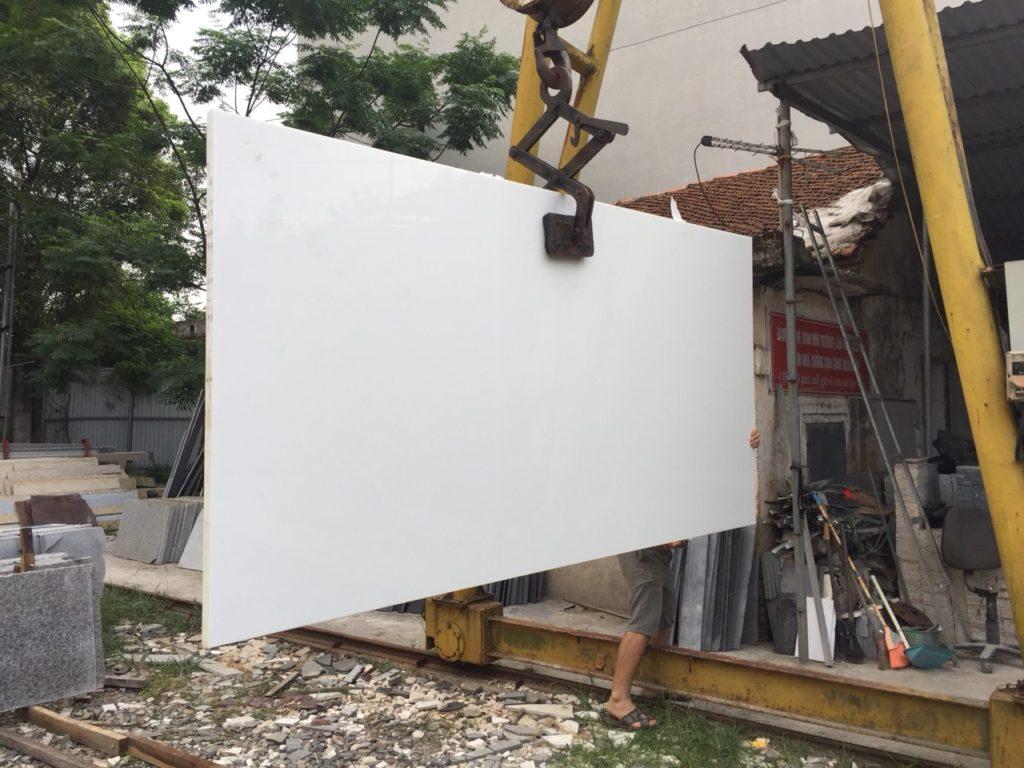 Hình ảnh slab đá trắng sứ dai