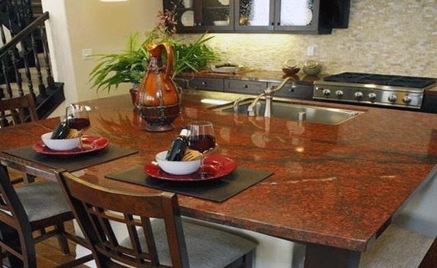 Đá bàn bếp giá rẻ đỏ sa mạc