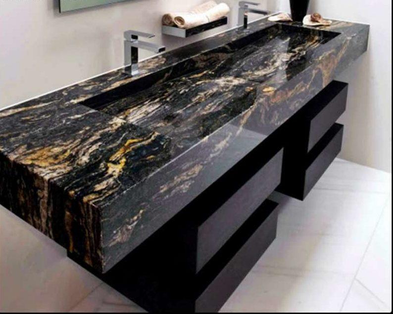 Granite Titanium làm bàn chậu lavabo