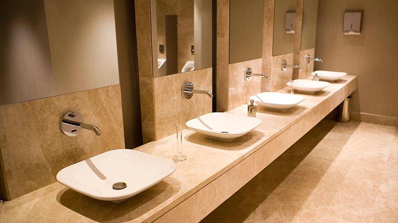 Đá Marble Nâu Tây Ban Nha nhạt làm bàn chậu Lavabo và ốp trang trí WC