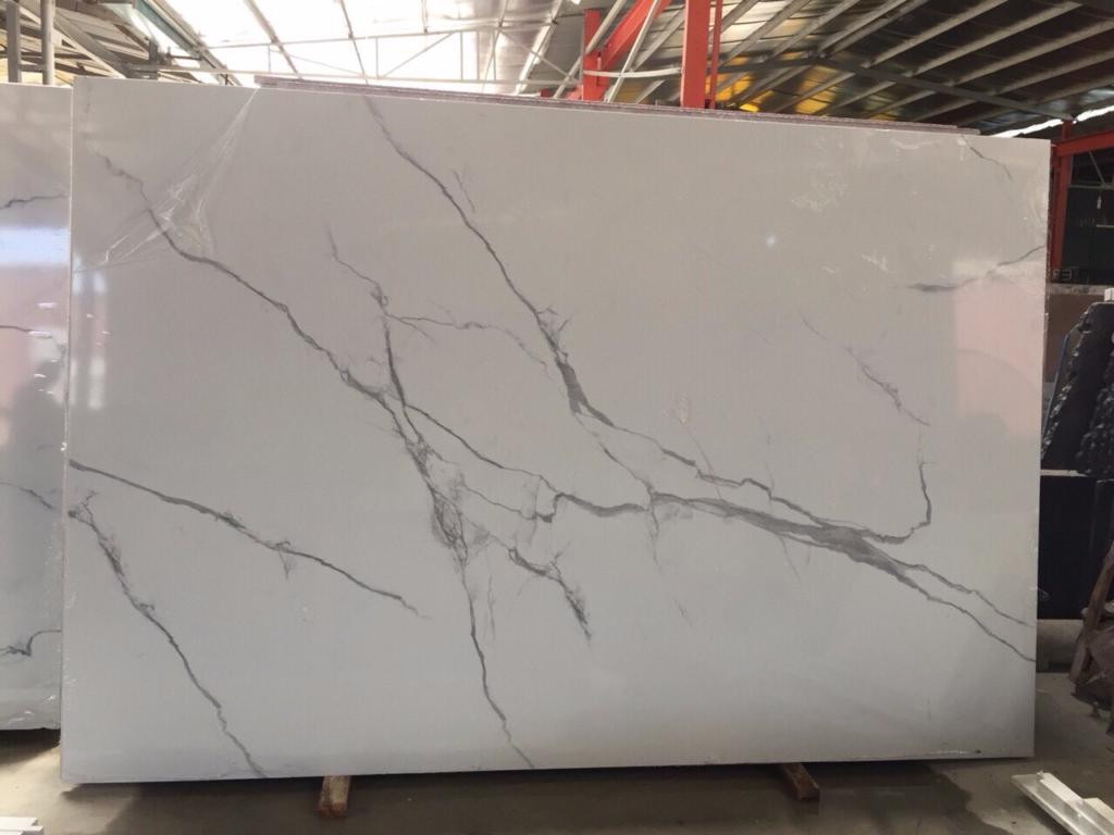Hình ảnh slab đá trắng Ý 3D