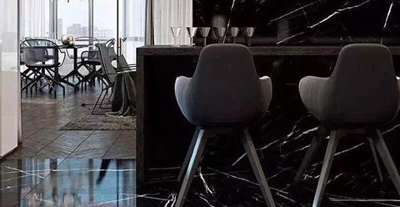 Marble đen tia chớp ốp trang trí quầy bar