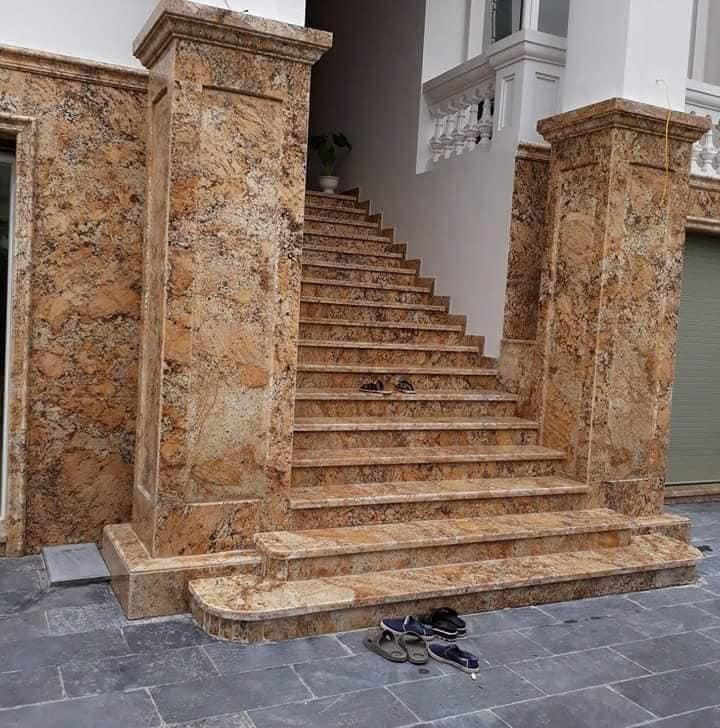 Đá Granite với nhiều ưu điểm rất phù hợp cho các hạng mục đá tự nhiên ốp tường trang trí mặt tiền.